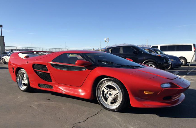One of just 14 produced, this Vector M12 is heading to auction. | Nellis Auction photo