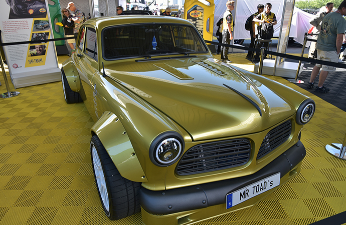 jeff allen unveils insane volvo amazon corvette mashup at sema show. Black Bedroom Furniture Sets. Home Design Ideas