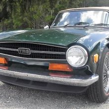 Low-mileage 'barn find' Triumph TR6 roadster