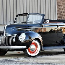 Cool restomod '39 Ford droptop