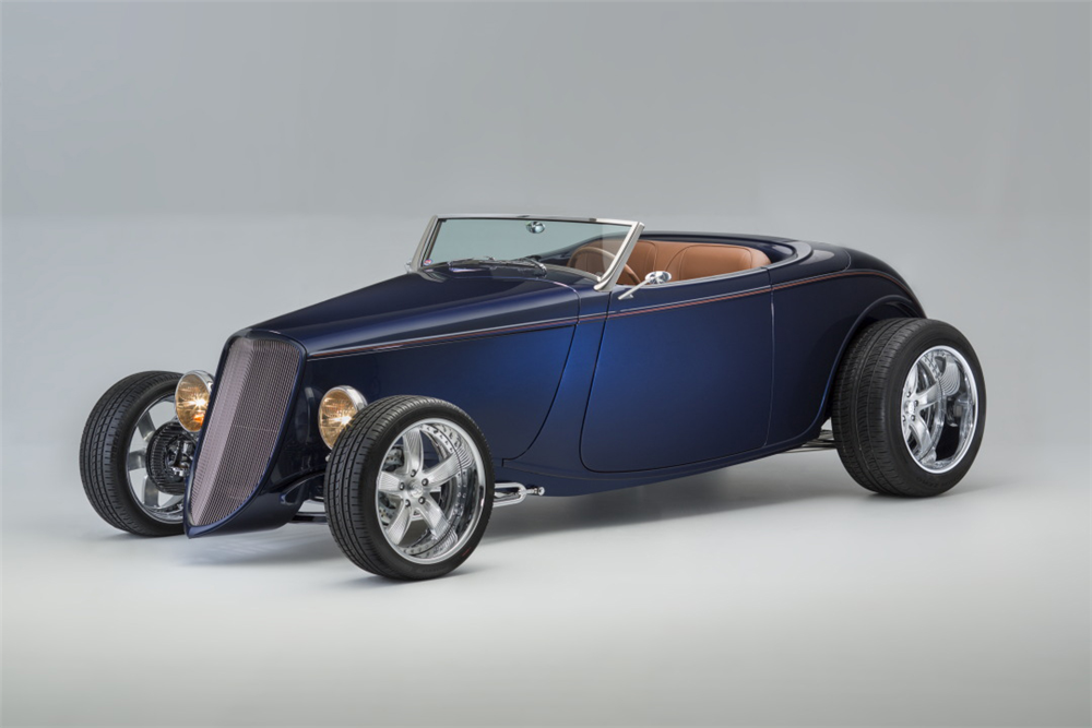 This custom 1933 Ford roadster will be on offer at the upcoming Barrett-Jackson auction in Scottsdale. | Barrett-Jackson photos
