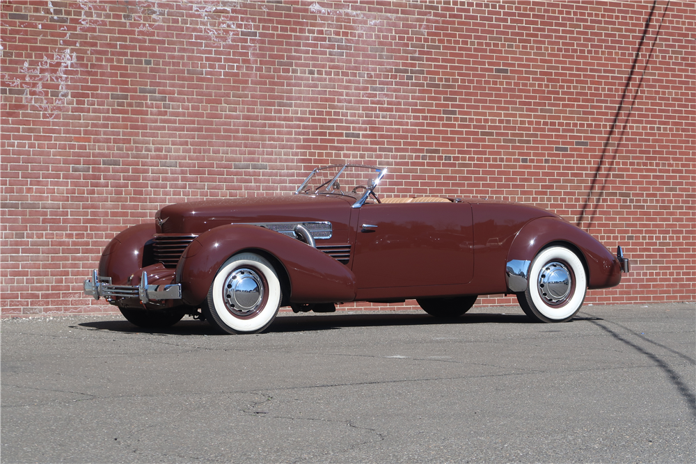 This 1937 Cord 812 Sportsman S/C cabriolet once owned by Henry Portz will be on the Barrett-Jackson block in Scottsdale. | Barrett-Jackson photos