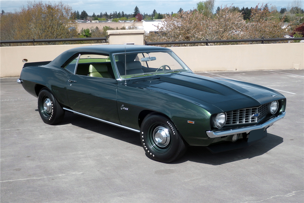 Bidders at the upcoming Barrett-Jackson auction in Scottsdale will have a chance to take this 1969 Chevrolet Camaro COPO home. | Barrett-Jackson photos
