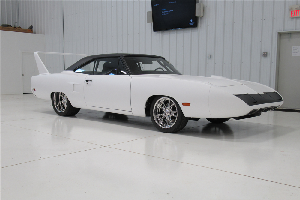 This 1970 Plymouth Satellite Superbird re-creation will be on the Barrett-Jackson auction block next month. | Barrett-Jackson photos