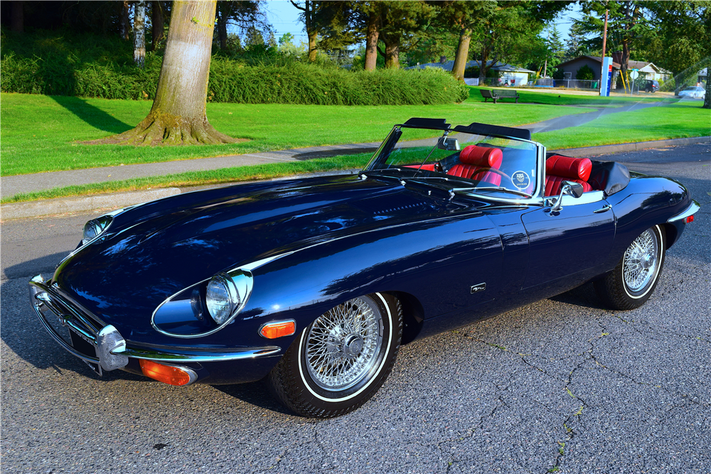 With less than 8,500 miles on the odometer, this original 1971 Jaguar XKE Series II Roadster will be selling with no reserve during the upcoming 2019 Scottsdale auction in January. | Barrett-Jackson photos
