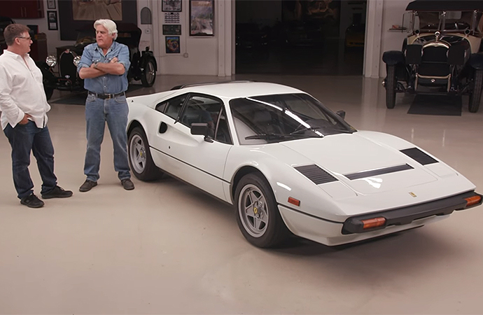 Owner Donnie Callaway brought his 1984 Ferrari 308 GTB -- and a great story -- to Jay Leno's Garage. | Screenshot