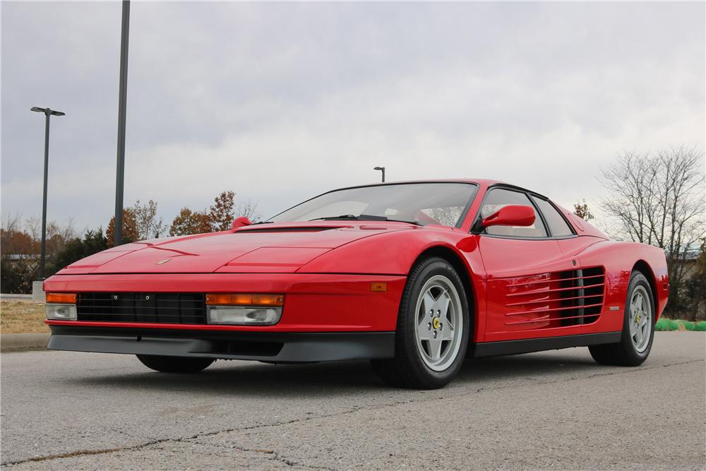 This 1988 Ferrari Testarossa will be on the Barrett-Jackson block in Scottsdale. | Barrett-Jackson photos
