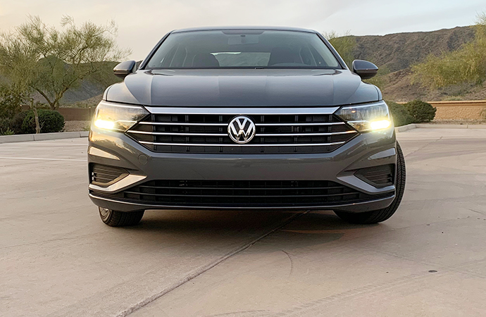 The 2019 Jetta has an engine that deserves to turn heads, but the jury is still out on how consumers take to the exterior design. | Carter Nacke photo