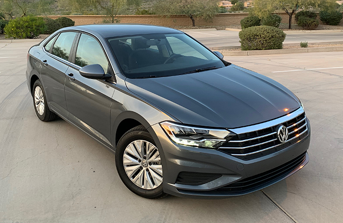 A peppy engine rescues the 2019 Volkswagen Jetta S from an otherwise mundane driving experience. | Carter Nacke photos