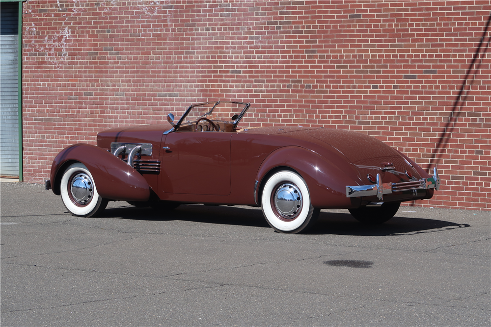 This 1937 Cord 812 Sportsman S/C cabriolet once owned by Henry Portz will be on the Barrett-Jackson block in Scottsdale.   Barrett-Jackson photos