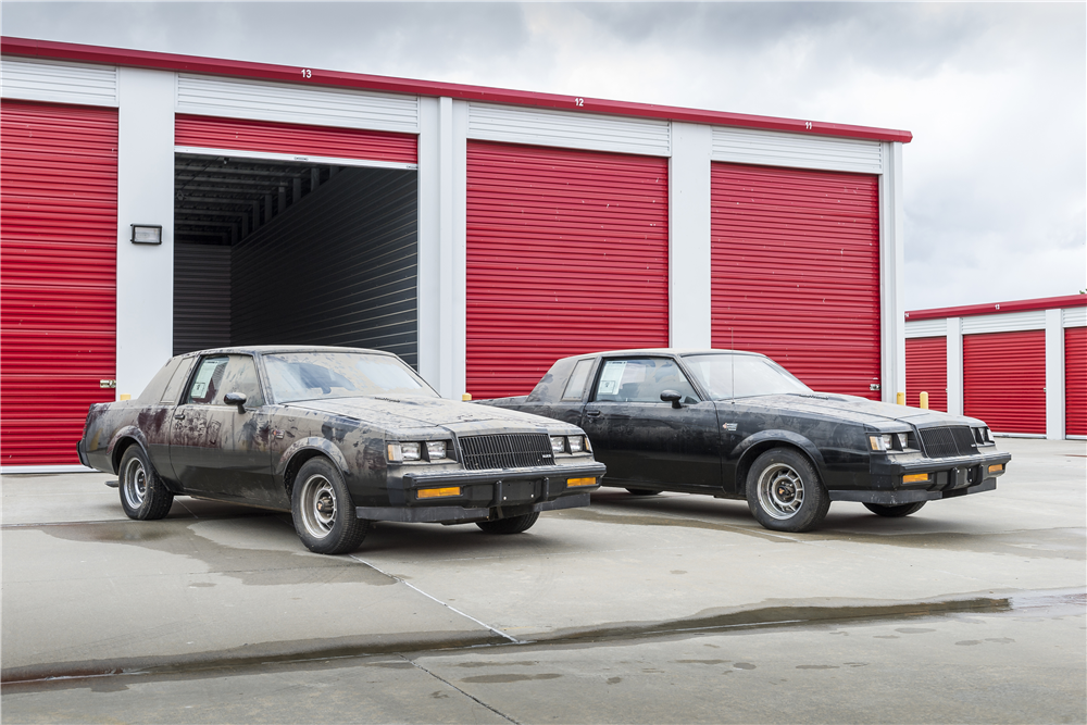 """After sitting in storage for more than 30 years, these two 1987 Buick Grand Nationals with sequential VINs – known as """"The Twinz"""" – are headed to the Barrett-Jackson Scottsdale auction block. 