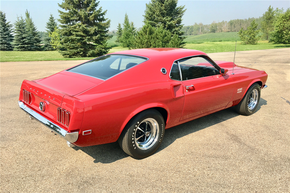 This 1969 Ford Mustang Boss 429, a pristine piece of Ford muscle car history, will be selling with no reserve during the 2019 Scottsdale Auction. | Barrett-Jackson photos