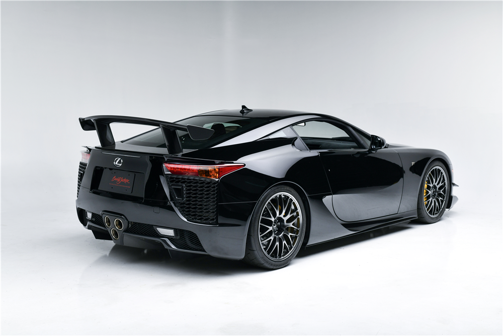 This low-mileage 2012 Lexus LFA, one of just 50 built with the Nürburgring Package, will be crossing the block at the 2019 Barrett-Jackson Scottsdale Auction with no reserve. | Barrett-Jackson photos
