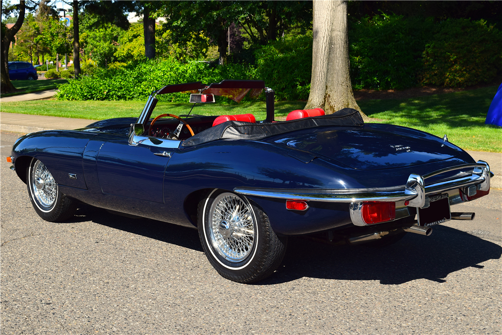With less than 8,500 miles on the odometer, this original 1971 Jaguar XKE Series II Roadster will be selling with no reserve during the upcoming 2019 Scottsdale auction in January.   Barrett-Jackson photos