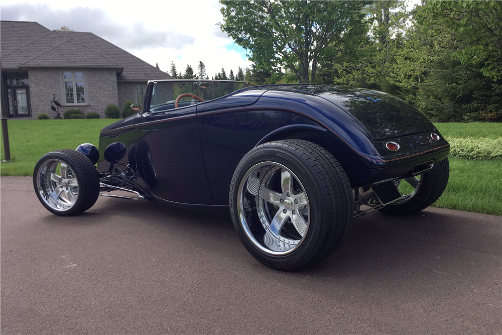 This custom 1933 Ford roadster will be on offer at the upcoming Barrett-Jackson auction in Scottsdale.   Barrett-Jackson photos