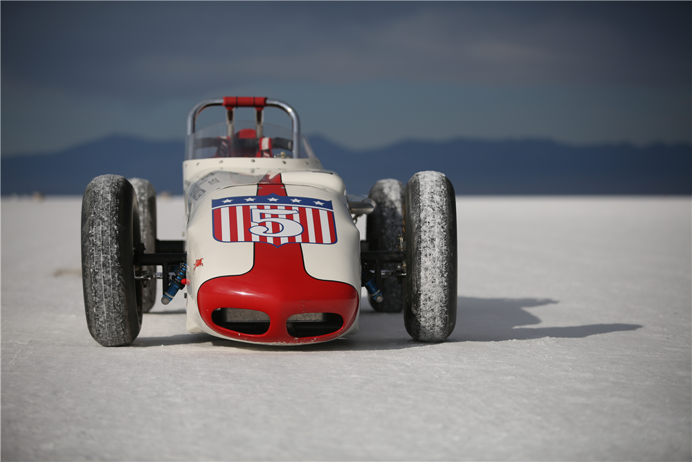 Specially built for action at Bonneville Speed Week, this 1957 Indy Roadster Re-creation was constructed with help from A.J. Watson himself. The race car will be featured at the 2019 Scottsdale Auction, selling with no reserve. | Barrett-Jackson photos