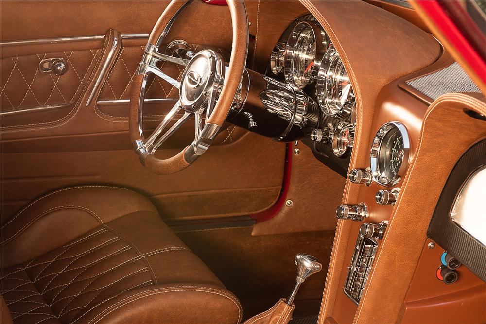 This stunning 1963 Chevrolet Corvette split window custom coupe is headed for the 2019 Barrett-Jackson Scottsdale auction.   Barrett-Jackson photos