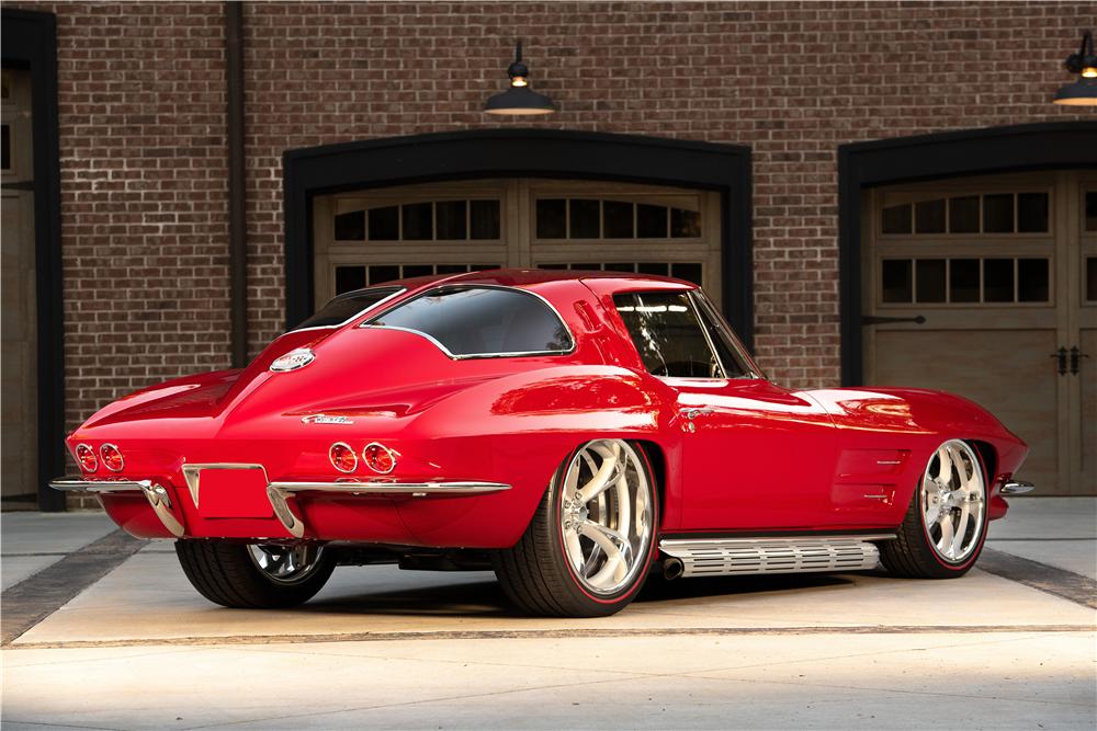 This stunning 1963 Chevrolet Corvette split window custom coupe is headed for the 2019 Barrett-Jackson Scottsdale auction. | Barrett-Jackson photos