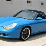 Blue Porsche Boxster front