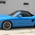 Blue Porsche Boxster side
