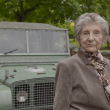 At 87, she gets a literal ride along Land Rover memory lane