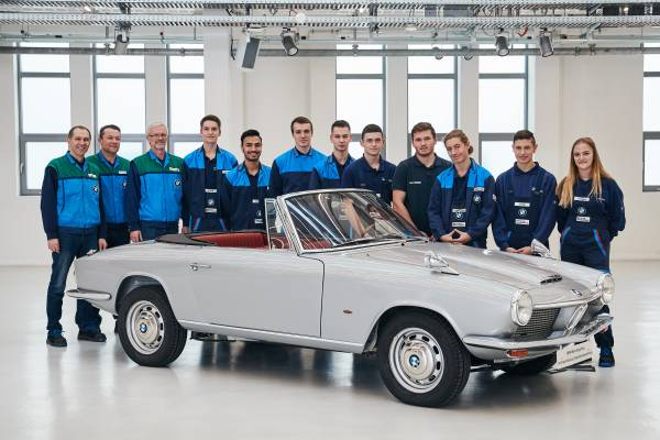 The only BMW 1600 GT convertible prototype has been restored by the German marque.   BMW photos