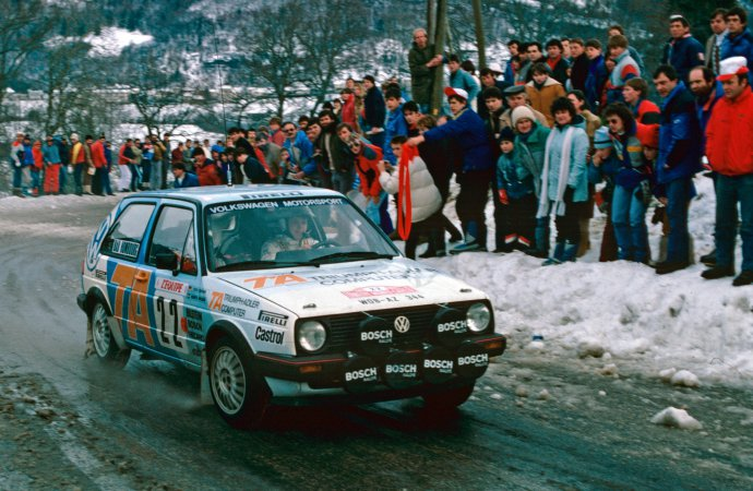 VW brings back new and historic cars for Austrian ice racing revival
