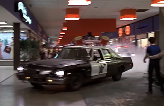 The mall car chase in Blues Brothers is likely one of the most famous film scenes ever. | Universal Pictures Screenshot