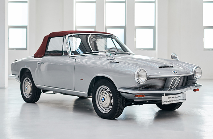 The only BMW 1600 GT convertible prototype has been restored by the German marque. | BMW photos