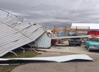 Tornado smacks Illinois collector car dealership rebuilt after 2017 fire