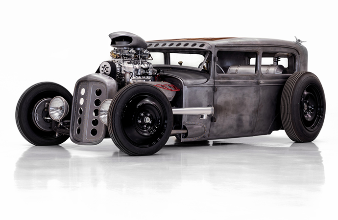 Seether bassist Dale Stewart will offer his custom Ford Model A built by Classic Car Studio at the upcoming Barrett-Jackson auction. | Barrett-Jackson photos