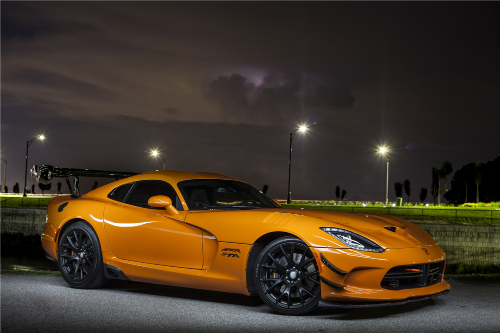 Bidders will get their chance to take home this 2017 Dodge Viper ACR/TA at the Barrett-Jackson auction in Scottsdale.   Barrett-Jackson photos