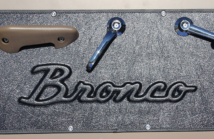 Quiet Ride has unveiled two door panels for vintage Ford Broncos. | Quiet Ride photos