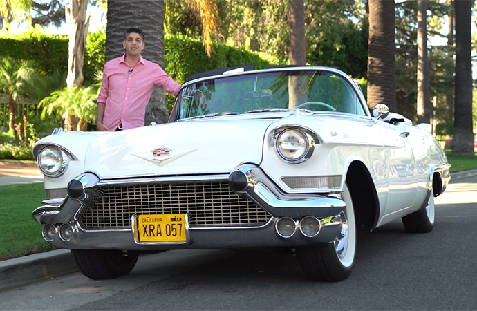 Nick took this gorgeous 1957 Cadillac Eldorado Biarritz on a cruise through Beverly Hills. | ClassicCars.com photo