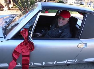 Family reunites father with beloved Porsche 914 as Christmas gift