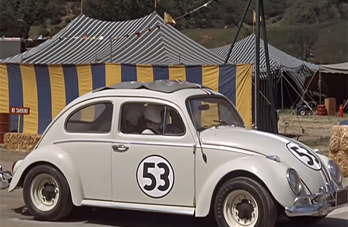 Why 53 for Herbie the Love Bug? It turns out producer Bill Walsh was a fan of Los Angeles Dodgers player Don Drysdale, who wore the same number. | Walt Disney Productions