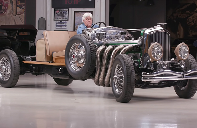 Jay Leno's personal 1931 Duesenberg Model J chassis was featured on a recent episode of Jay Leno's Garage. | Screenshot
