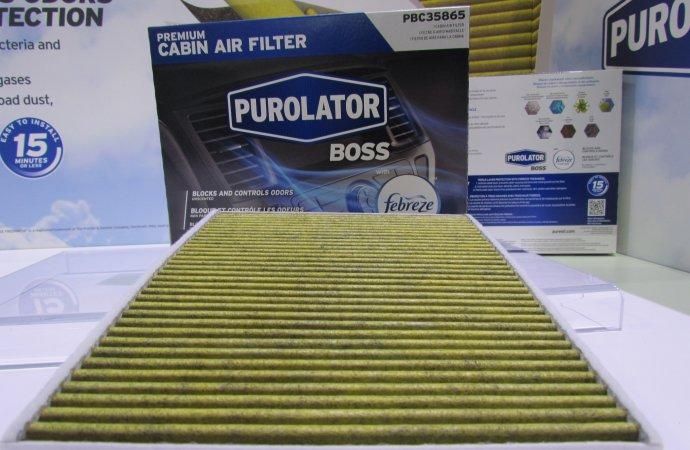 Purolator adds Febreze to automotive cabin filters