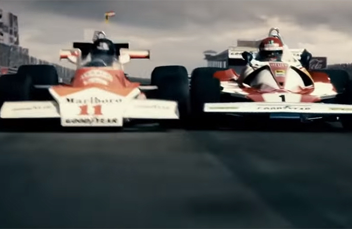 Rush is about a yearslong competition between two Formula One drivers. | Universal Pictures