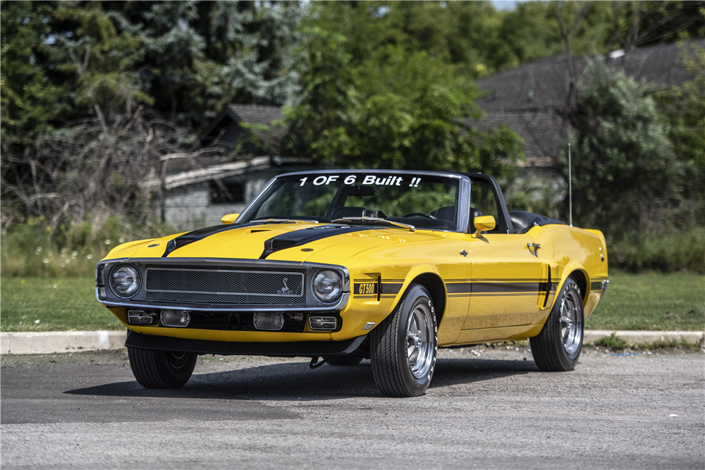 The lucky high bidder will get to drop the top on this Shelby GT500. | Barrett-Jackson photos