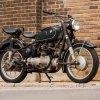 Vintage post-war BMW motorcycle
