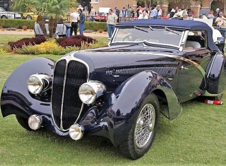French objet d'art 1936 Delahaye convertible by Figoni et Falaschi