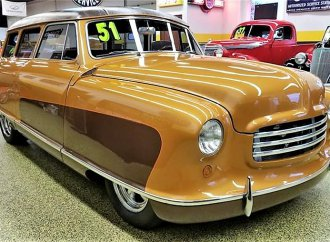 Unique custom '51 Nash Rambler wagon with matching trailer
