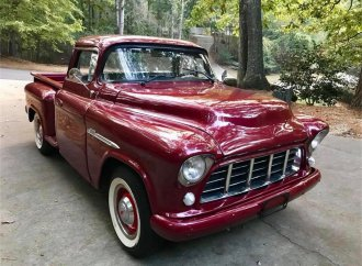 Customized and diesel-driven '55 Chevy pickup