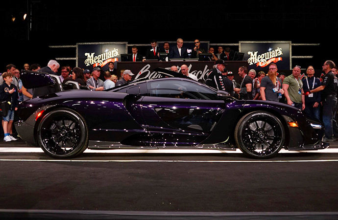 This 2019 McLaren Senna was hammered sold for more than $1.3 million at the Barrett-Jackson auction in Scottsdale, Arizona. | Rebecca Nguyen photo