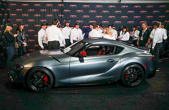 The first production 2020 Toyota Supra was hammered sold for $2.1 million at the Barrett-Jackson collector car auction in Scottsdale, Arizona on Saturday. | Rebecca Nguyen photo