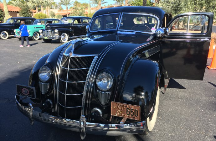 An early example of aerodynamics at play on this 1935 Chrysler Imperial.