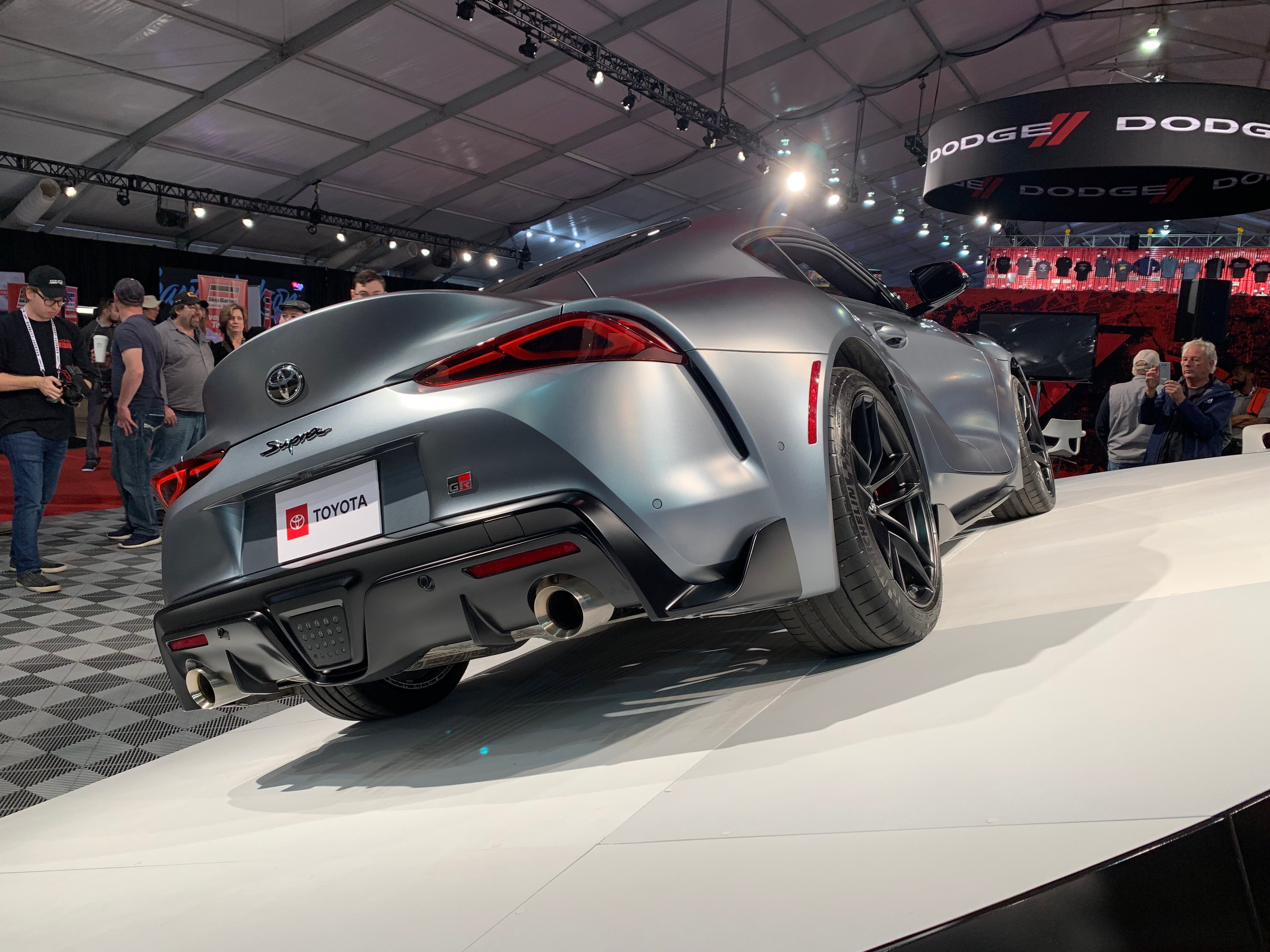The back of the 2020 Toyota Supra appears to have taken some influence from previous generations. | Carter Nacke photo