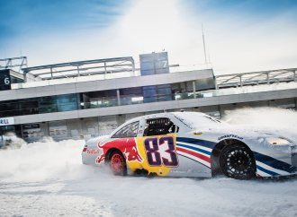 NASCAR racer will compete on studded tires