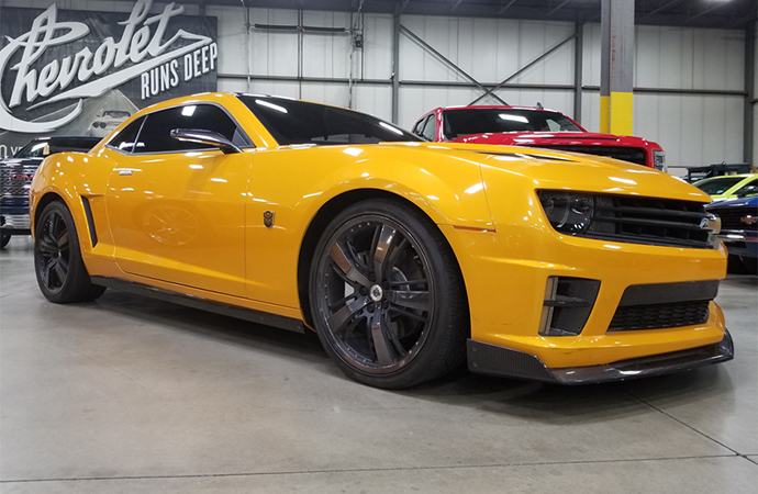 Barrett-Jackson will auction four Chevrolet Camaros used in the Transformers franchise for charity. | Barrett-Jackson photos